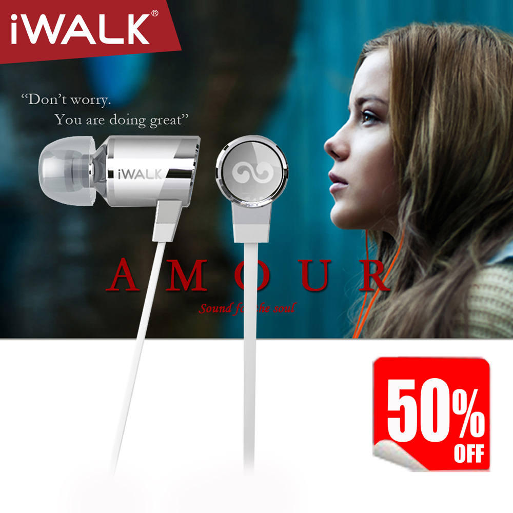 iWALK Amour :Earphone headset with remote Mic